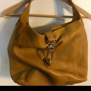 Dooney & Bourke logo lock pebble leather hobo bag
